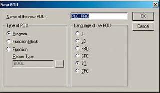 Создание программы PLC_PRG