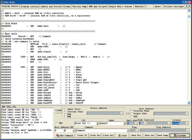 Рис. 4. Окно создания исходного ассемблерного файла — «Program Source»