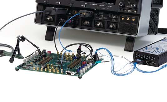 Рис. 3. Работа WP 7 Zi с подключенными пробниками и логическим анализатором