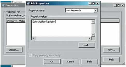 Диалоговое окно установки SVN-свойства файла svn: keywords