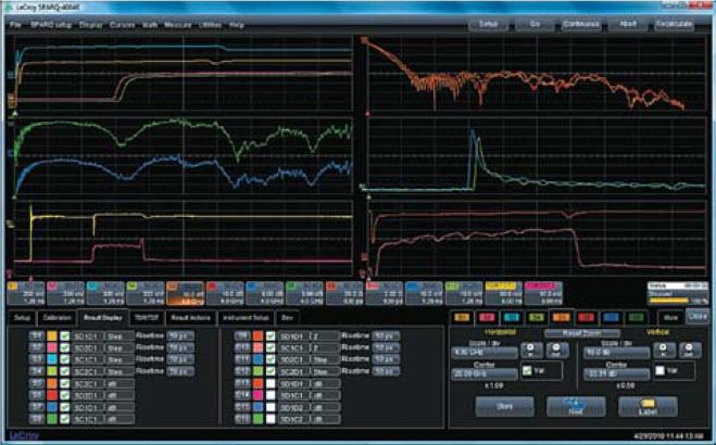 Вид окна настройки анализатора цепей SPARQ