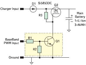 Рис. 1. Типовая схема входных цепей зарядного устройства