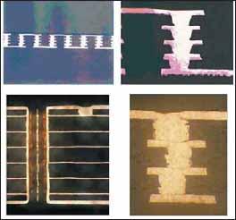 Межслойные переходы, выполненные как металлонаполненные глухие отверстия