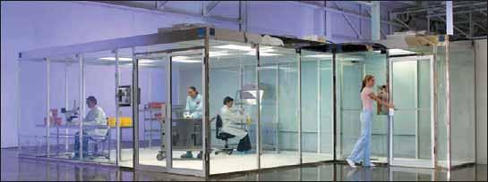 Пример встраивания чистых зон в строительные конструкции производственных помещений