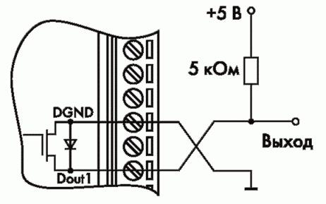 Рис. 20. Получения логических уровней напряжения на выходах модулей