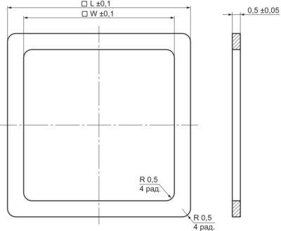 Чертеж ободка металлокерамического корпуса