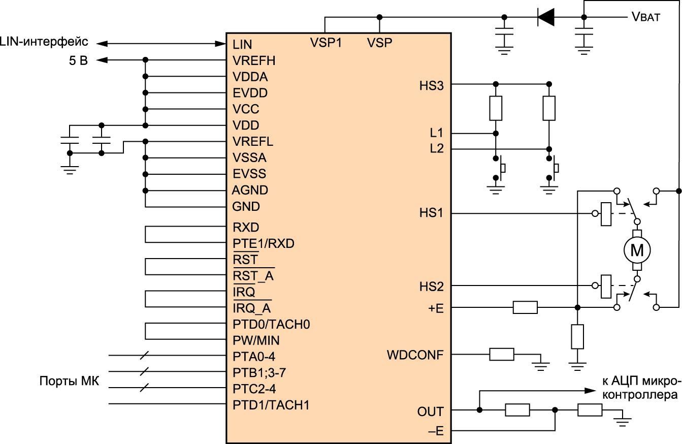 Схема включения ММ908Е624