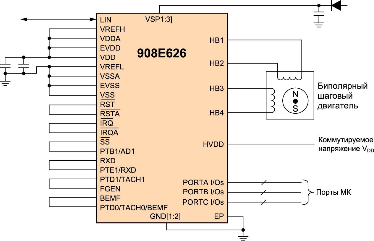 Схема включения ММ908Е626