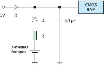 Рис. 3. Схема с минимальными дополнительными компонентами