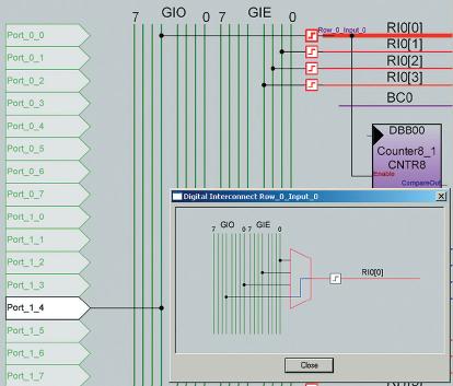 Рис. 12. Подсоединение линии RI0[0] к микрокнопке