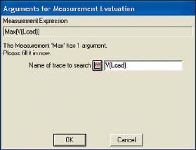 Диалоговое окно Arguments for Measurement Evaluation с выбранной переменной