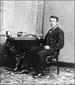 Эдисон и его любимое изобретение — фонограф, 1878 год