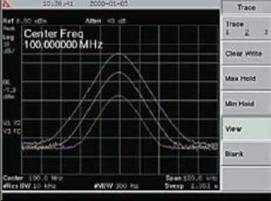 Пример вывода трех линий спектра