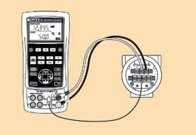 Схема подключения калибратора Fluke-724 к розетке термодатчика
