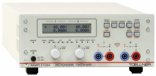 Внешний вид источника напряжения и тока АКИП TOELLNER