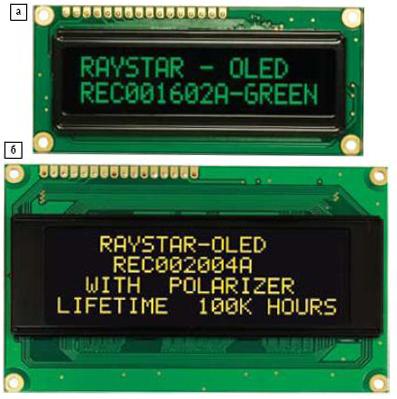 Алфавитно-цифровые OLED-модули семейства Raystar: