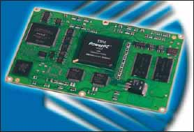 Встраиваемый модуль E2Brain EB425, оснащающийся коммуникационным процессором XScale IXP425 с тактовой частотой до 533 МГц