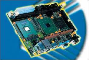 Встраиваемый компьютер JRex-PM. Изделия, созданные в соответствии с будущим промышленным стандартом на 3,5-дюймовые платы, будут, возможно, похожи на это одноплатное решение.