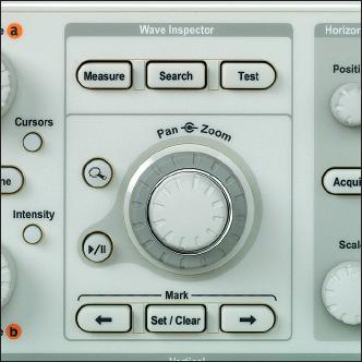 Рис. 2. Wave Inspector с элементами управления масштабом и просмотром на передней панели