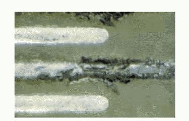 Рис. 5. Последствия коррозии — разрушение проводника