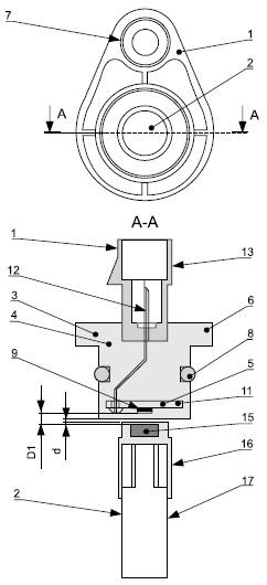 Аксиальное исполнение автомобильного бесконтактного датчика положения и скорости