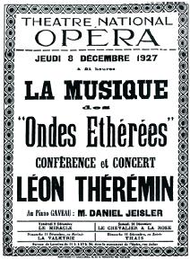 Рис. 3. Концертная афиша Л. Термена. Франция, 1927 год