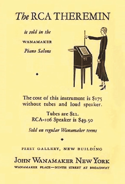 Рис. 6. Реклама терменвокса, 30-е годы, США