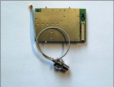 Внешний вид модуля GSM010801 со стороны разъема