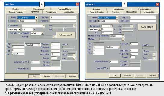 Редактирование надежностных характеристик КМОП ИС типа 74HC04
