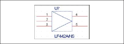 Перерисованный символ компонента