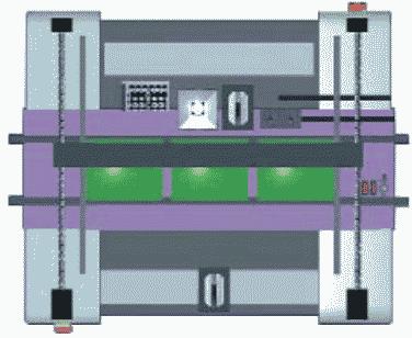 Рис. 4. Трехзонный конвейер автомата