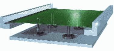 Рис. 6. Сервоуправляемый подъемный столик с магнитными штырями