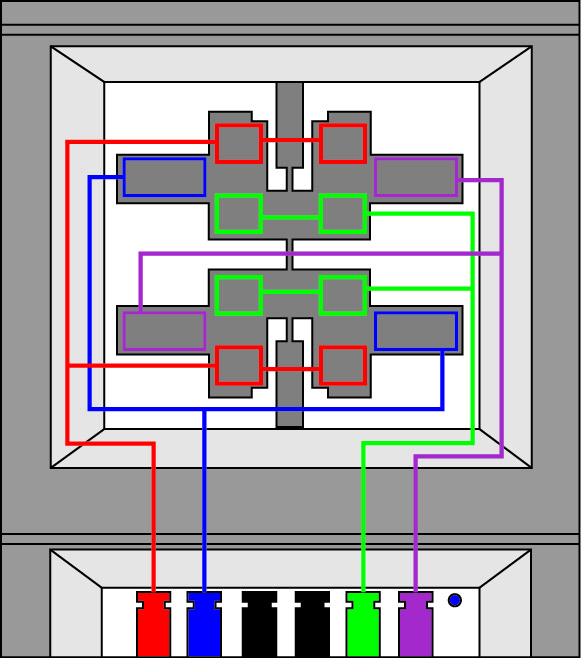 Распределение электродов чувствительного элемента