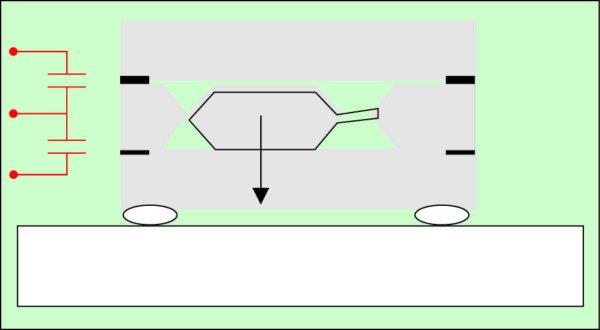 Схема конструкции чувствительного элемента акселерометра Colibrys