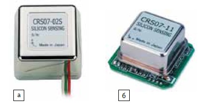 Внешний вид гироскопов серии CRS07: а) CRS07-02S; б) бескорпусных CRS07-11S и CRS07-13S