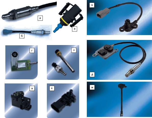 Рис. 4. Датчики систем контроля эмиссии, включая Powerdrivetrain