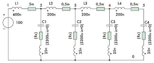 Рис. 4. Эквивалентная схема при параллельном соединении конденсаторов