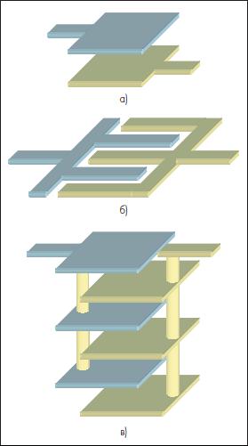 Квазисосредоточенные емкостные элементы многослойных ИС на КНТО