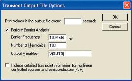 Рис. 37. Диалоговое окно Transient Output File Options