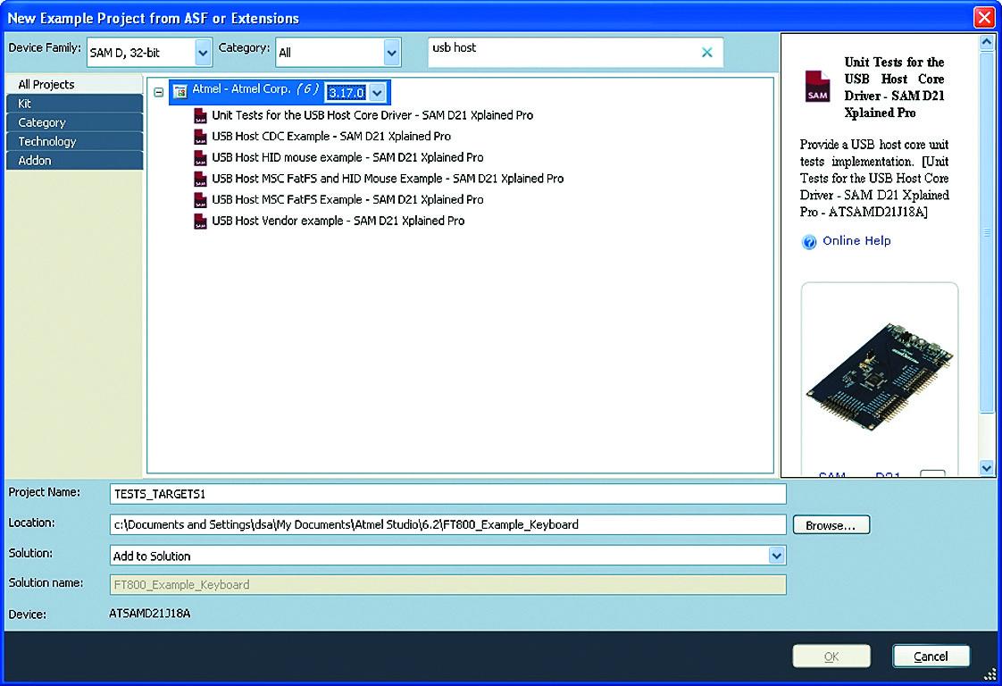Примеры работы с драйверами USB-классов