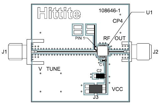 Монтаж микросхемы HMC733LC4B на печатной плате