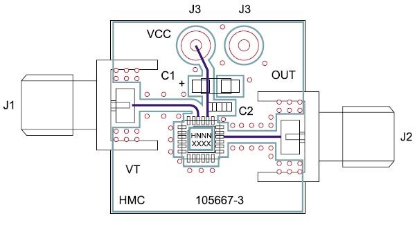 Монтаж микросхемы HMC532LP4/532LP4E на печатной плате