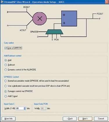 Рис. 35. Вид диалоговой панели Operation Mode Setup — MACC