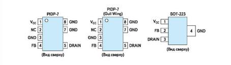 Типы корпусов, используемых для семейств NCP101x/102x