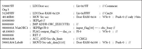 Рис. 5. Примеры синтаксиса команд, сгенерированных программой