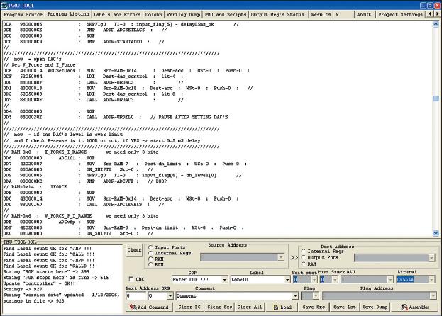 Рис. 6. Пример листинга, сгенерированного программой