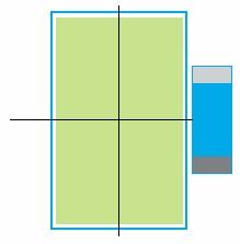 Размеры корпуса счетчика EHz с местом расположения трансформаторов
