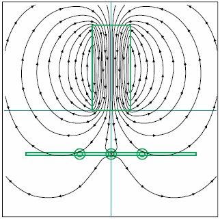 Магнитное поле без экрана с трансформаторными сердечниками