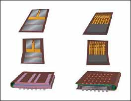 Пошаговая схема сборки пакета кристаллов микросхем