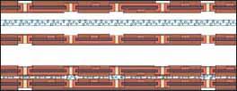 Анизотропная клеящая пленка с токопроводящим наполнителем позволяет реализовать Z-связи в многослойной структуре межсоединений